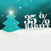 Christmas Tree 35 percent Rabatt Discount — Stock Photo
