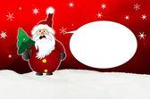 Angry Santa Claus Comic balloon — Stock Photo