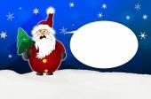 Angry Santa Claus Comic balloon — ストック写真