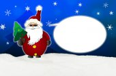 Cool Santa Claus Comic with sunglasses balloon — Stock Photo