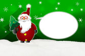 Funny Santa Claus Comic with glasses balloon optician — Stock Photo