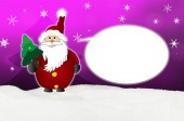 Funny and friendly  Santa Claus Comic balloon — Stock Photo