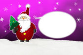 Funny and laughing Santa Claus Comic balloon — Stock Photo