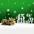 Christmas pinecone tree 45 percent Rabatt discount — Stock Photo #58887019