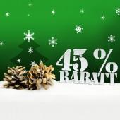 Christmas pinecone tree 45 percent Rabatt discount — Stock Photo