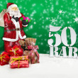 Santa claus - merry christmas 50 percent discount — Stock Photo #58909657