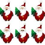 Funny Santa Claus Comic Faces — Stock Photo #59066953