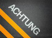 Achtung German Attention Text — Stock Photo