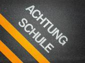 Achtung Schule - Attention School German — Stock Photo