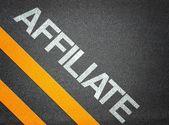 Affiliate Marketing Text Road Asphalt — Zdjęcie stockowe