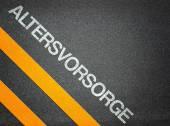 Altersvorsorge German Pension Text — Stock Photo