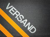Versand German Shipping Text — Stock Photo