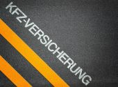 German Kfz Versicherung car insurance Text Writing Road Asphalt — ストック写真