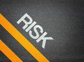 Risk Text Writing Road Asphalt — Stock fotografie