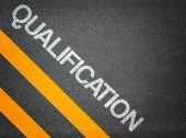 Qualification Text Writing Road Asphalt — Stock Photo