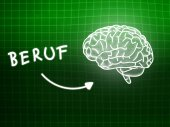 Beruf brain background knowledge science blackboard green — Stockfoto