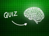 クイズ脳背景知識科学黒板緑 — ストック写真
