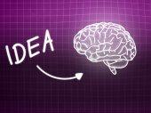 Idea brain background knowledge science blackboard pink — ストック写真