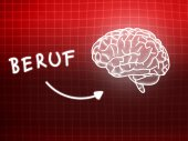 Beruf brain background knowledge science blackboard red — Stock Photo