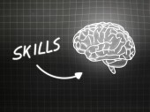 Energy brain background knowledge science blackboard gray — Φωτογραφία Αρχείου