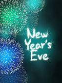 New years eve anniversary firework celebration party turquoise — Stock Photo