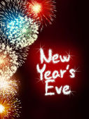 New years eve anniversary firework celebration party red — Stock Photo