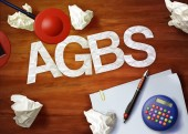 Agbs desktop memo calculator office think organize — Stock Photo