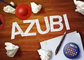 Azubi desktop memo calculator office think organize — Stock Photo