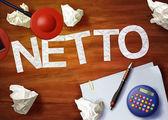 Netto desktop memo calculator office think organize — Stok fotoğraf