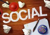 Social desktop memo calculator office think organize — Stock Photo