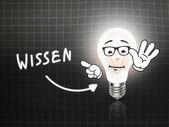 Wissen Bulb Lamp Energy Light blackboard  — Foto Stock