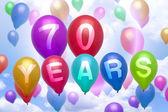 70 years happy birthday balloon colorful balloons — ストック写真