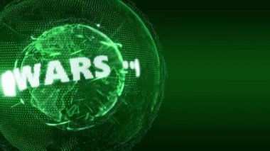 Infowars News Anonymous Infowar Teaser green — Stock Video