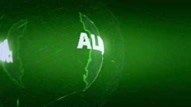 Albania Map World map News Communication green — Stock Video