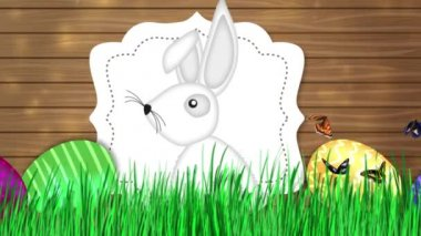Happy Easter - Easter Bunny Video Animation — Stockvideo