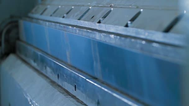 stock video machine bending iron sheet industrial