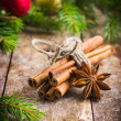Cinnamon sticks and anise stars for muuled wine — Stock Photo #56833299