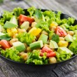 Salad with chickpeas, tomato and avocado — Stock Photo #56835841