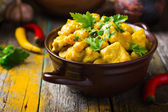 Spicy chicken and chickpeas curry — Stock Photo