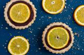 Tart with chocolate and orange — Stockfoto