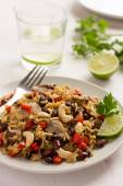 Rice with  red bean, mushrooms and vegetables — Stock Photo