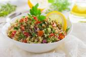 Tabbouleh salad with quinoa, parsley and vegetables — Stock Photo