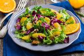 Salad mix with orange — Stock Photo