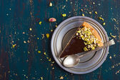 Tart with caramel and nuts — Stock Photo