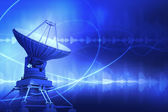 спутниковая антенна — Стоковое фото