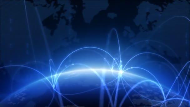 Redes en el espacio — Vídeo de stock