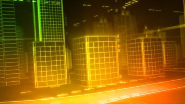 Redes en la ciudad — Vídeo de stock
