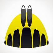 Diving monofin. — Stock Vector