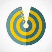 Diagramma- circular — Stock vektor