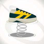 Spring shoe — Stock Vector
